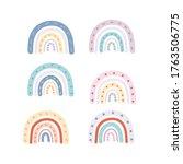 baby cute rainbow graphic... | Shutterstock .eps vector #1763506775