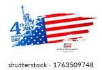 celebration flag of america... | Shutterstock .eps vector #1763509748