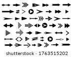 arrows big black set icons.... | Shutterstock .eps vector #1763515202