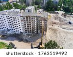 Aerial View Of The Demolition...