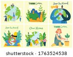 set of eco save environment...   Shutterstock .eps vector #1763524538