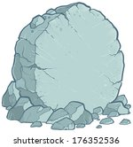 Vector Illustration Of A Stone.