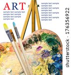 artist palette with various... | Shutterstock . vector #176356922