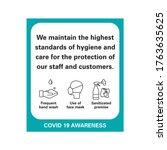 corona viurs covid 19 safety... | Shutterstock .eps vector #1763635625
