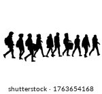 crowds people on street.... | Shutterstock .eps vector #1763654168