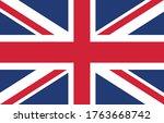 united kindom flag vector... | Shutterstock .eps vector #1763668742