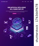artificial intelligence banner. ...   Shutterstock .eps vector #1763669678