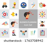 business planning icon set....   Shutterstock . vector #1763708942
