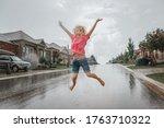 Cute Adorable Girl Running...