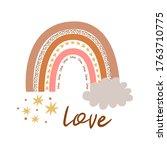 boho rainbow kids pastel... | Shutterstock . vector #1763710775