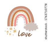 boho rainbow kids pastel...   Shutterstock .eps vector #1763710778