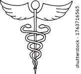 caduceus   a symbol of medicine ...   Shutterstock .eps vector #1763716565