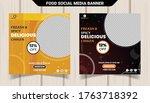 food menu banner design premium ... | Shutterstock .eps vector #1763718392