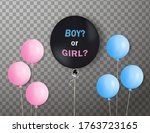 "big black balloon with ""boy or... 