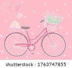 Greeting Card With A Bicycle ...