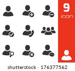 vector black people icons set... | Shutterstock .eps vector #176377562