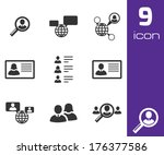 vector black people search... | Shutterstock .eps vector #176377586