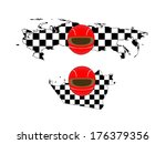 racing flag maps 8 russia abu... | Shutterstock .eps vector #176379356