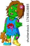 Scary Little Zombie Girl...