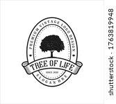 tree of life logo concept ... | Shutterstock .eps vector #1763819948