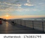 Boardwalk at the beach, New York