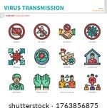 virus transmission coronavirus...   Shutterstock .eps vector #1763856875