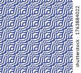 continuous monochrome graphic... | Shutterstock .eps vector #1763884022
