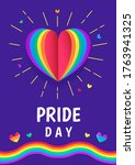 pride day greeting card poster... | Shutterstock .eps vector #1763941325