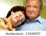 happy romantic senior couple in ... | Shutterstock . vector #17639557