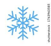 blue snowflake vector icon... | Shutterstock .eps vector #1763963585