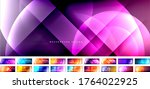 set of vector abstract... | Shutterstock .eps vector #1764022925
