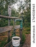 Rusty Well With Dirty Bucket I...
