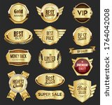 collection of sale and premium... | Shutterstock . vector #1764042008