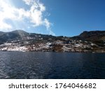 Lake On Mountain  Boating In A...