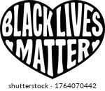 black lives matter vector... | Shutterstock .eps vector #1764070442