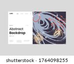 abstract homepage illustration. ... | Shutterstock .eps vector #1764098255