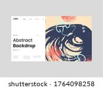 abstract homepage illustration. ... | Shutterstock .eps vector #1764098258