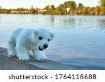 White Homemade Bear Walks Alon...