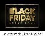 black friday sale poster with... | Shutterstock .eps vector #1764122765