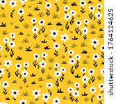 seamless flower vector pattern... | Shutterstock .eps vector #1764124625