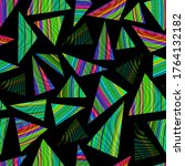 rainbow color triangle seamless ...   Shutterstock .eps vector #1764132182