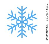 blue snowflake icon isolated on ... | Shutterstock . vector #1764145112