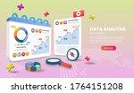 data analysis landing page... | Shutterstock .eps vector #1764151208