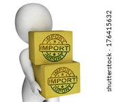 import boxes showing importing... | Shutterstock . vector #176415632