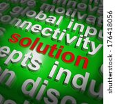 solution word cloud d | Shutterstock . vector #176418056