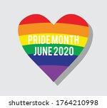 pride month june 2020 rainbow... | Shutterstock .eps vector #1764210998