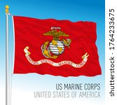 us marine corps official flag ... | Shutterstock .eps vector #1764233675