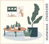 abstract handmade plant... | Shutterstock .eps vector #1764241505