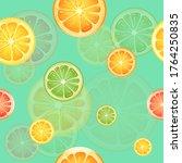 seamless pattern of orange... | Shutterstock .eps vector #1764250835