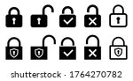 set of lock icon  padlock... | Shutterstock .eps vector #1764270782